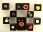 FLOWER NATURE jewellery lapel pin badge necklace or earring handmade in England