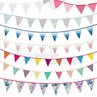 FABRIC BUNTING -8 Designs- Party Hanging Decoration / Garland / Material / Cloth
