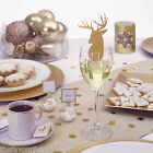 Winter Wonderland Gold Xmas table ware place cards baubles cups napkins plates