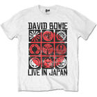 David Bowie 'Live In Japan (White)' T-Shirt - NEW & OFFICIAL!