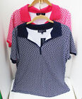 JONES NEW YORK BLUE PINK CASUAL GEOMETRIC COTTON SHORT SLEEVE KNIT TOP 1X 2X NEW
