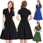 Womens Vintage Style Retro 1950's 1960's Evening Swing Skater Dress
