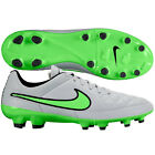Nike Tiempo Genio Leather II FG Soccer Shoes 2015 Wolf Gray / Black / Green