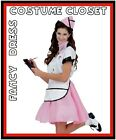 Soda Pop 1950s 50s Uniform Pink Ladies Retro Fancy Dress Costume Grease Outfit