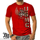 MARINE CORPS T SHIRT USMC ELITE BREED HONOR EAGLE GLOBE USA MENS RED TEE S-3XL   image