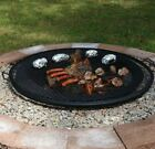 Fire Pit Cooking Grill Outdoor Firepit Round Mesh Grate Black Campfire 7 Sizes