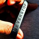 NEVERSTOP Never Stop 100%Silicone Wristband Brand New! image