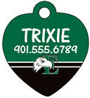 NCAA MAC Pet Id Tag for Dogs & Cats Personalized w/ Name & Number