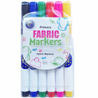 EURO FABRIC PENS, PACK OF 6 PERMANENT MARKERS FOR CLOTHING AND BAGS