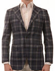 Sartoria PARTENOPEA Hand Made Blue Plaid Wool Jacket Sports Coat