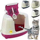 Large Corner Cat Flip Litter Tray Hooded Box Covered Toilet Bundle Scoop Filter