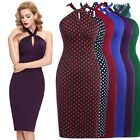 Women's Vintage Sexy Cocktail Evening Party Bodycon Slim Pencil Dress
