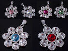 RIVOLI 6mm 8mm GENUINE SWAROVSKI CRYSTAL Pendant FLOWER 925 STERLING Silver