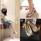 New Spring Pointy Women Shoes Rivet Wholesale Low Heel Comfort US Plus Size s181