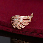 Hot 1pc 18K Gold Filled Clear Cubic Zirconia Amazing Angel Wing Ring Size 7 8 9
