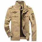 ZHN193 Military Style New Men's Slim Fit Zip Jacket Air Force jacket Coat