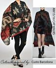 NEW PRINTED OVERSIZE BLANKET WRAP SCARFE  MEDIUM WEIGHT SLEEVLESS  FORMAL  CAPE