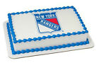 New York Rangers NHL hockey NY image cake topper frosting sheet #3676 $11.7 USD on eBay