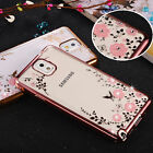 Ultra Thin Clear Crystal Diamond Soft TPU Plating Case Cover For Samsung Phones