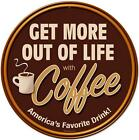 Retro Drink Coffee Metal Sign Store Business Diner Kitche...