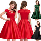 Plus Size Vintage Retro 1950s Pinup Tea Party Swing Cocktail Prom Wedding Dress