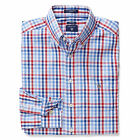 Gant Check Mens Casual Long Sleeve Oxford Button Down Shirt Red White Blue