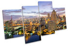 Bangkok City Thailand Sunset MULTI CANVAS WALL ART Print Picture