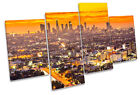 Los Angeles Sunset City MULTI CANVAS WALL ART Boxed Framed