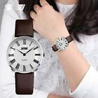 Unisex Women #B Skmei Luxury Brand Leather Quartz Watch Casual Business Dress
