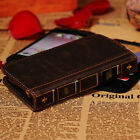 Vintage Retro Book Style Leather Case Cover Flip Card Wallet For Phone