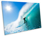Surfer Beach Wave Surf SINGLE CANVAS WALL ART Print Picture