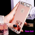 Luxury Bling Crystal Diamond Mirror Case Soft Cover For Apple iPhone 6s/7/8 Plus