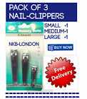NAIL CLIPPER CUTTER HEAVY DUTY PACK OF 3 SIZES NAIL CUTTER GOOD QUALITY NAIL