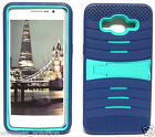 NAVY BLUE & TURQUOISE U-Case Hybrid Cover Case for Samsung Galaxy Grand Prime