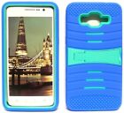 BLUE & TURQUOISE U-Case Hybrid Cover Case for Samsung Galaxy Grand Prime