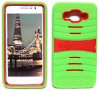 NEON GREEN & RED U-Case Hybrid Cover Case for Samsung Galaxy Grand Prime