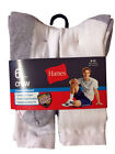Hanes Men's Cushion White Crew Socks 6 Pairs Size 6-12
