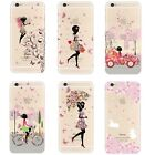 Clear Thin Fashion Girl Print Cute Pattern Case Cover For iPhone 4 5 5c 6 7
