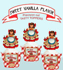 Vintage Little Miss Muffet Picnic Birthday Party Cupcake Toppers cup cake