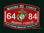 MOS 6484 ELECTRONIC WARFARE TECH EA-6B HAT PATCH US MARINES PIN UP VET GIFT MAW