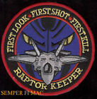 F-22 RAPTOR FIRST LOOK SHOT KILL PATCH US AIR FORCE AFB WING PIN UP GIFT WOW
