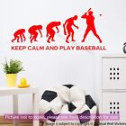 Keep Calm and Play Baseball Quote Wall Sticker Evolution Baseball Wall Decals