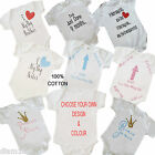 Personalised Baby Toddler Vest Great Newborn Baby Gift  Bodysuit Grow 0-12months