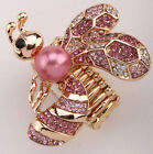 Bee Stretch Ring Cute Animal Bling Scarf Jewelry Gifts 5 Dropship