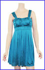 GORGEOUS SOFT TEAL PLEATED DRESS SIZE 8 10 12 14 16 NEW