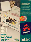 Avery White SELF SEAL MAILER, #5325 Advertising Brochure Announcement 72 SHEETS
