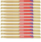 Hickory Drum Sticks Full Brick of 12 Pairs Wood or Nylon Tip 2B 5A 5B 7A Jazz