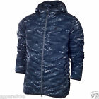Nike Mens's Cascade 700 Down Outdoor Nylon Lightweight Jacket Blue Camo Size M