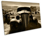 Rusty Old Truck Car Barn Find Single Canvas Wall Art Framed Print