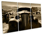 Rusty Old Truck Car Barn Find Treble Canvas Wall Art Box Framed Picture